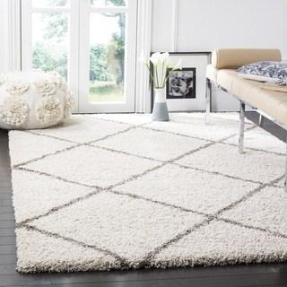 8×10 rugs safavieh hudson diamond shag ivory/ grey rug - 8u0027 x 10u0027 FCXCQJR
