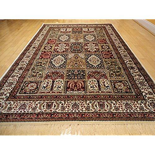 Afghan rugs silk traditional turkish design rug 5x7 rugs silk 5x8 rug living room area BKDHIWI