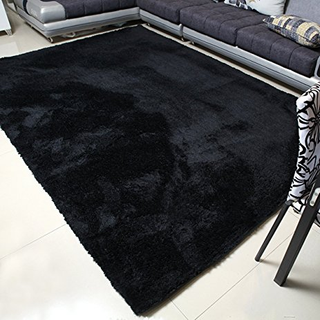 amazing black rugs in amazon com mbigm super soft modern area living room AKRSCDD