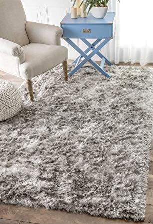 amazon.com: handmade soft and plush silken solid shag area rug: kitchen u0026 GUWSLKR