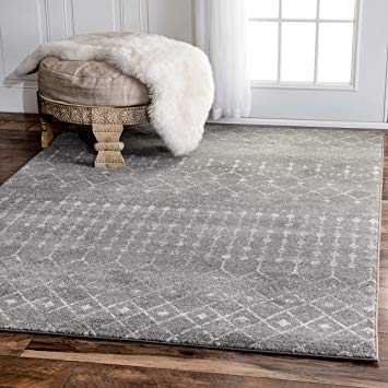 amazon.com: traditional vintage moroccan trellis dark grey area rugs, 9  feet by GUCLMJN