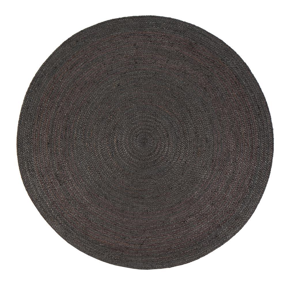 anji mountain kerala gray 6 ft. x 6 ft. jute round area rug TWPEQEH