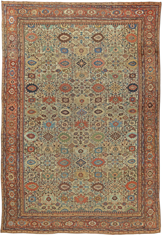 antique rugs: sultanabad antique rug uesbdfq WLSTLKW