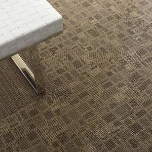 area commercial carpet tiles install with a quarter turn pattern. easy to EPOOOSH