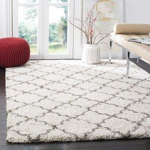 area rugs samira shag ivory/gray area rug UBSYHKC
