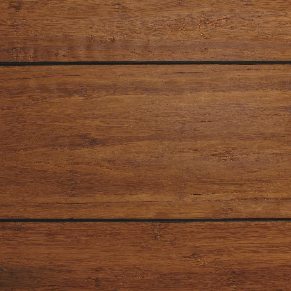 bamboo flooring home decorators collection strand woven distressed dark honey 1/2 in. t x ZNAQXBF