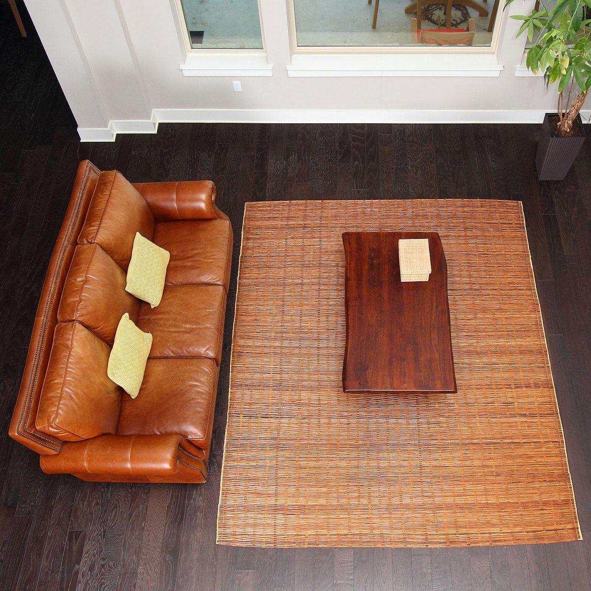 bamboo rug bali chestnut woven natural bamboo u0026 rattan area rug, ... HQZOCGR