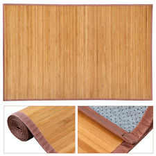 bamboo rug natural bamboo area rug floor carpet bamboo wood indoor outdoor non-slip rug QSFSTNJ