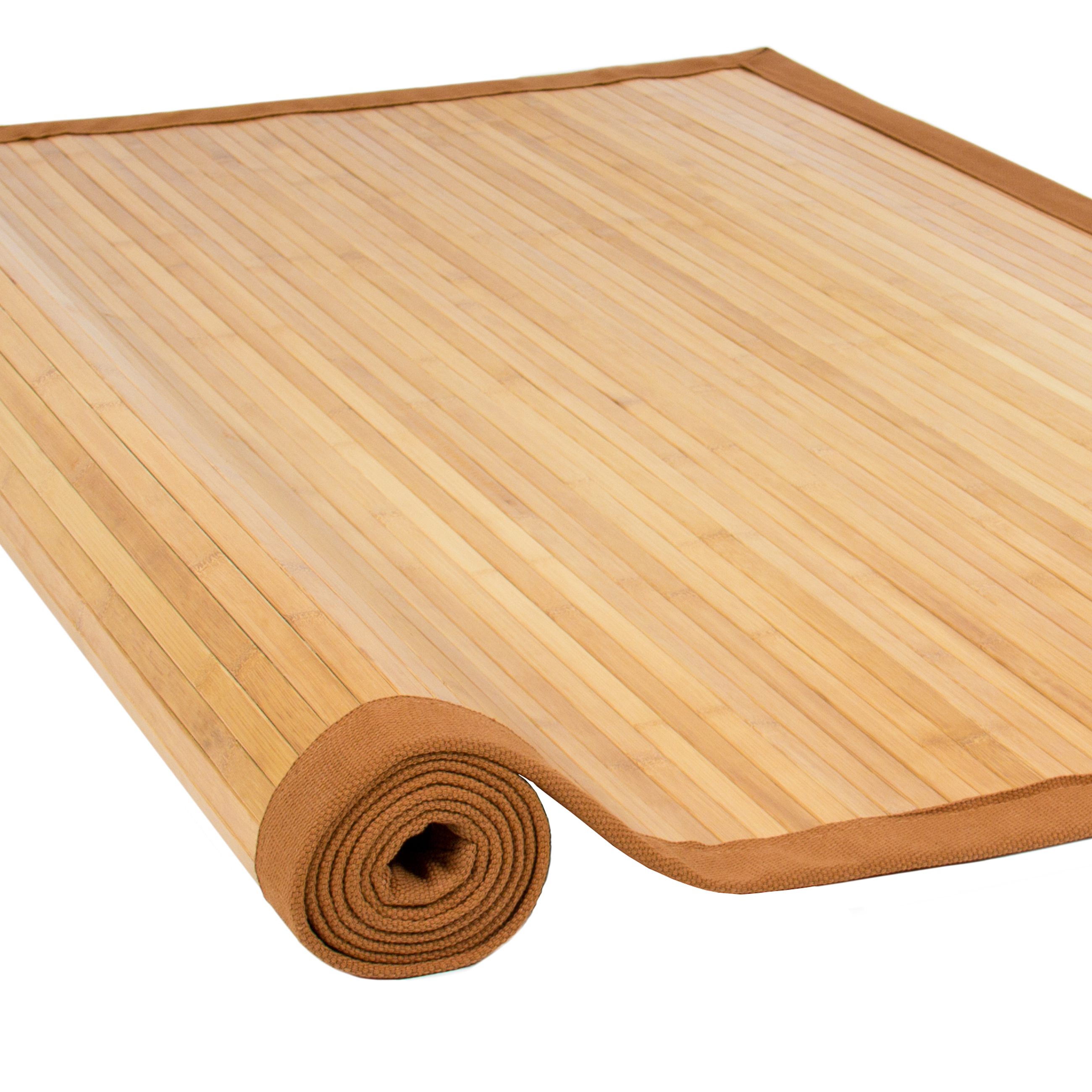 Bamboo rugs best choice products bamboo area rug carpet indoor 5u0027 x 8u0027 100% natural OIXRCPZ