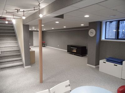 basement carpet basement finishing idea. similar to our layout. NPZIDJI