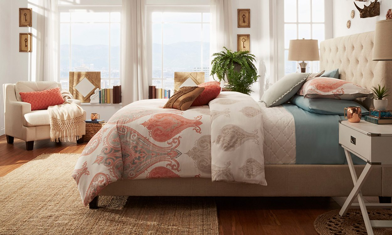 bedroom area rugs bedroom rug. how to place an area rug in your bedroom l GSWHFHS