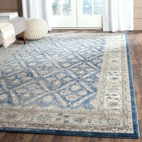 Best blue rug blue beige rug vintage trellis blue beige distressed rug 8 navy blue beige JFEALCA