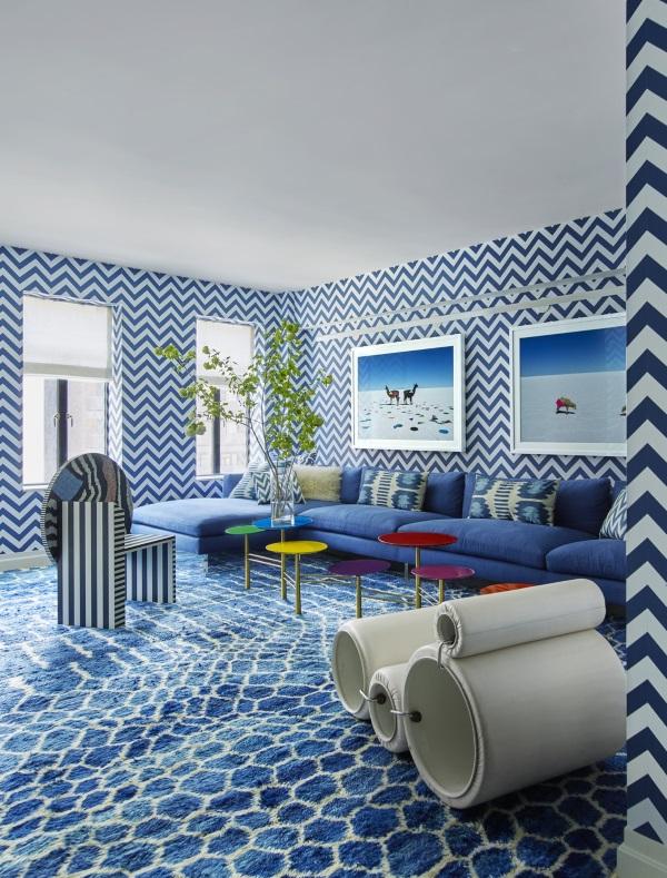 Best blue rug elle decor november 2015: 7 best rooms with designer rugs UBHETWP