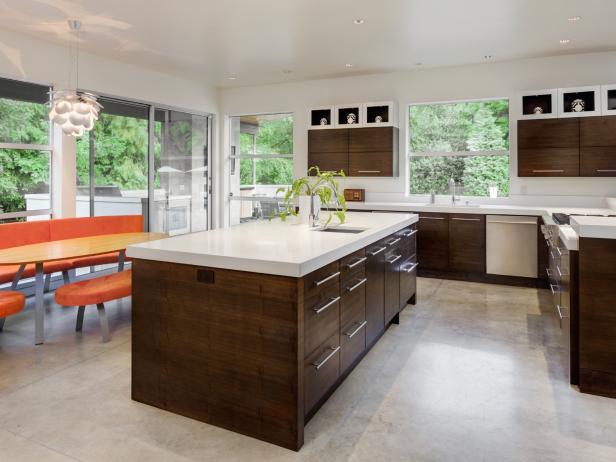 best flooring options kitchen in new luxury home QBJFGFP