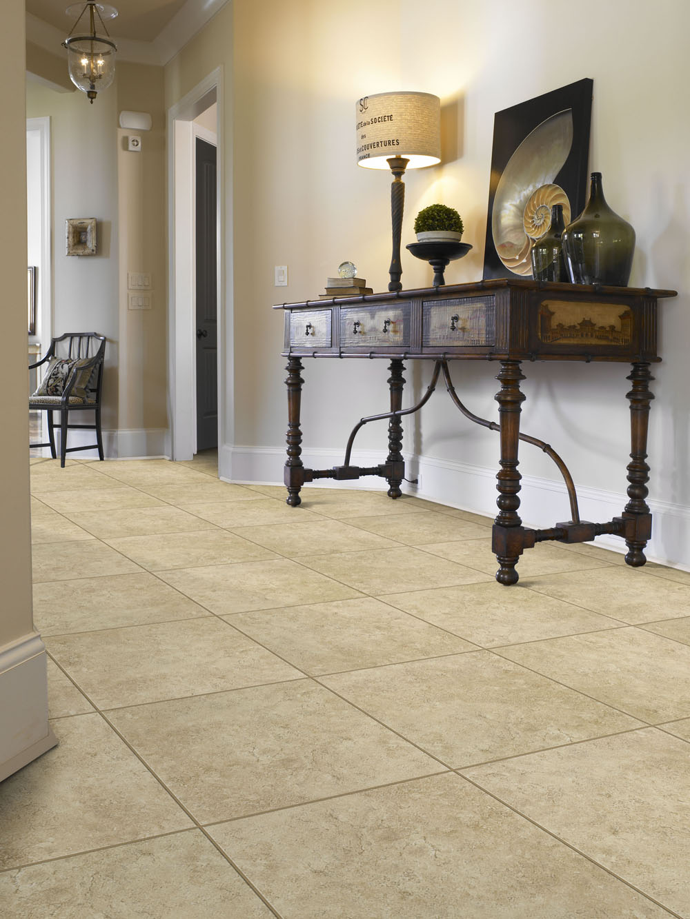 best flooring options tile flooring in entryway with front table and lamp RBQHWLZ