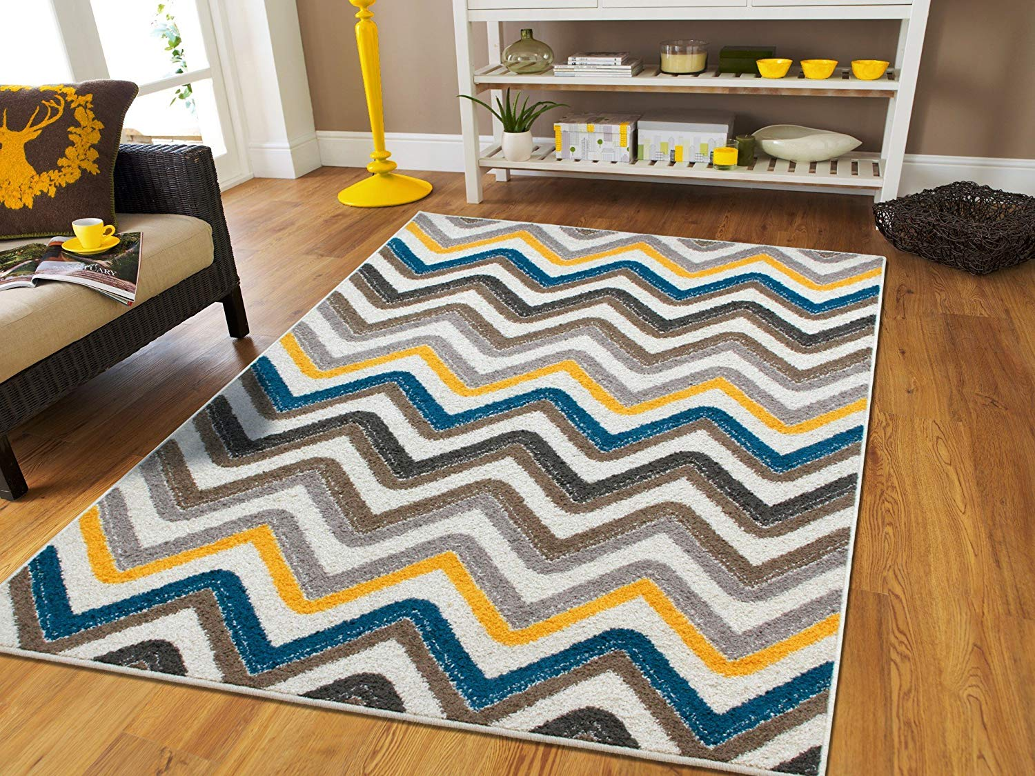 best rugs amazon.com: new fashion zigzag style large area rugs 8x11 clearance under  100 KSAZWMR