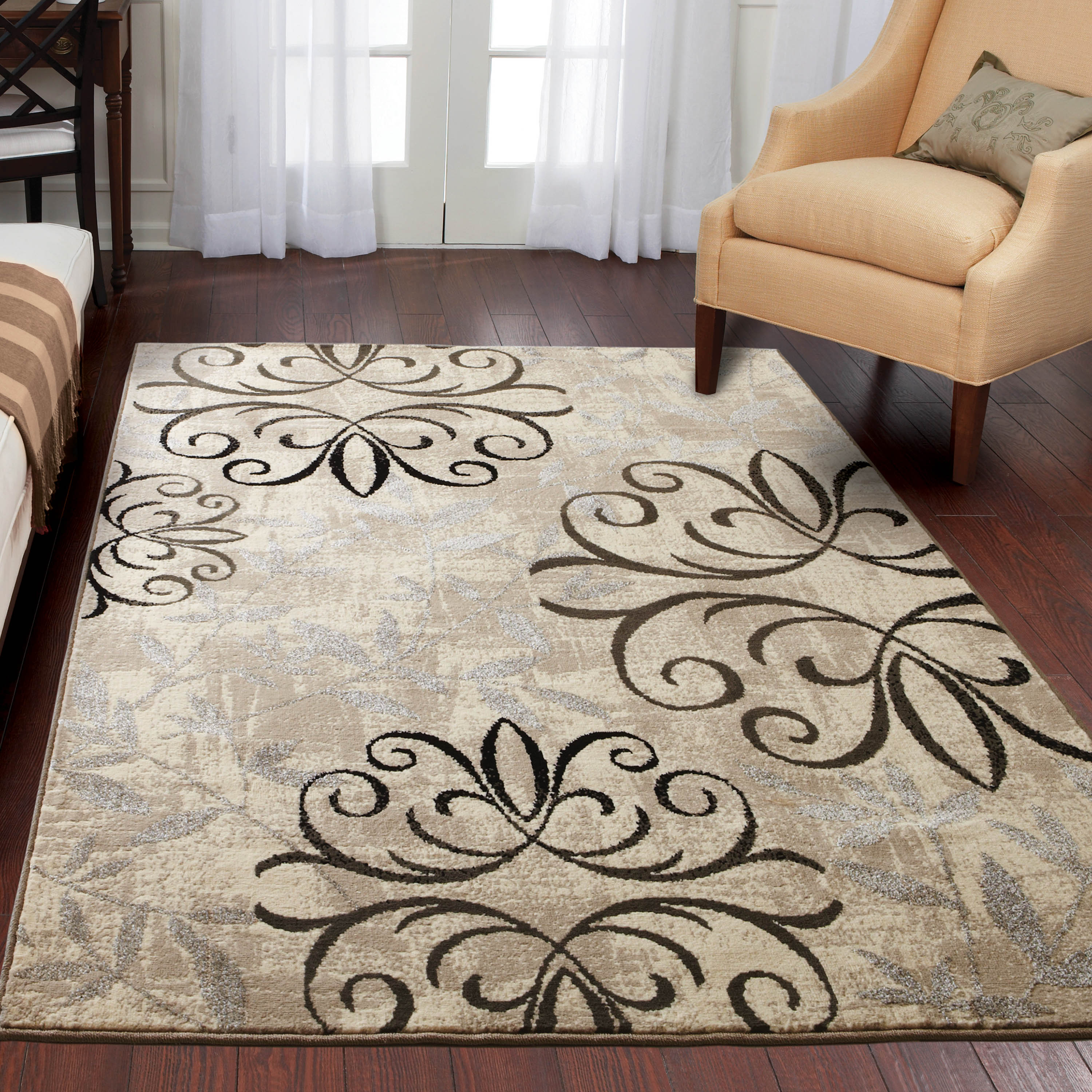better homes and gardens iron fleur area rug or runner EERBCAN