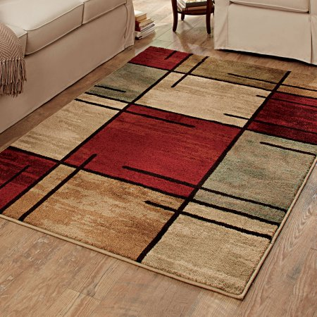 better homes and gardens spice grid area rug BSMNGBM