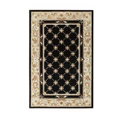 black area rugs churchill black with design 10 ft. x 14 ft. area rug ASQCZZU