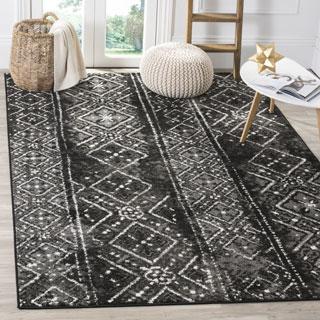 black area rugs safavieh adirondack vintage boho black/ silver rug - 8u0027 x ... OSQRLTL