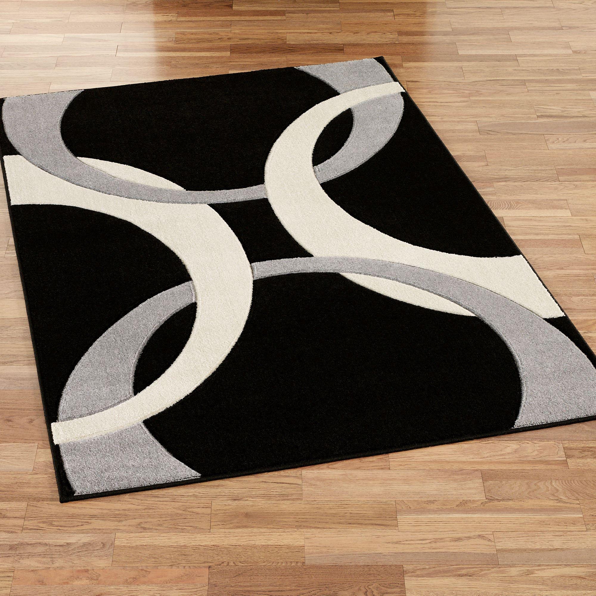 black rugs corfu contemporary rectangle rug black NXEAEHV