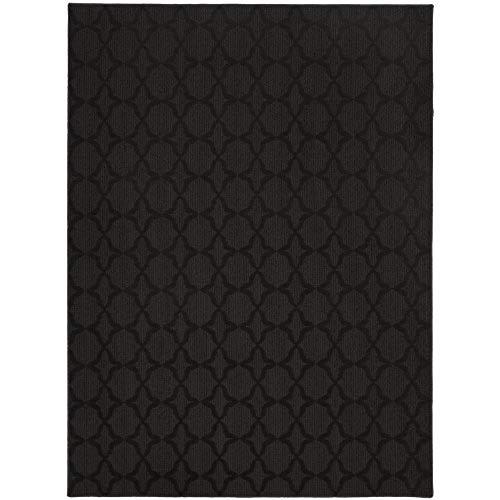 black rugs garland rug sparta area rug, 5-feet by 7-feet, black JTLNHSE