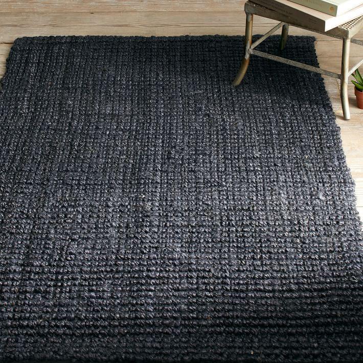 black rugs view in gallery textured black jute rug from west elm GXLRLZU