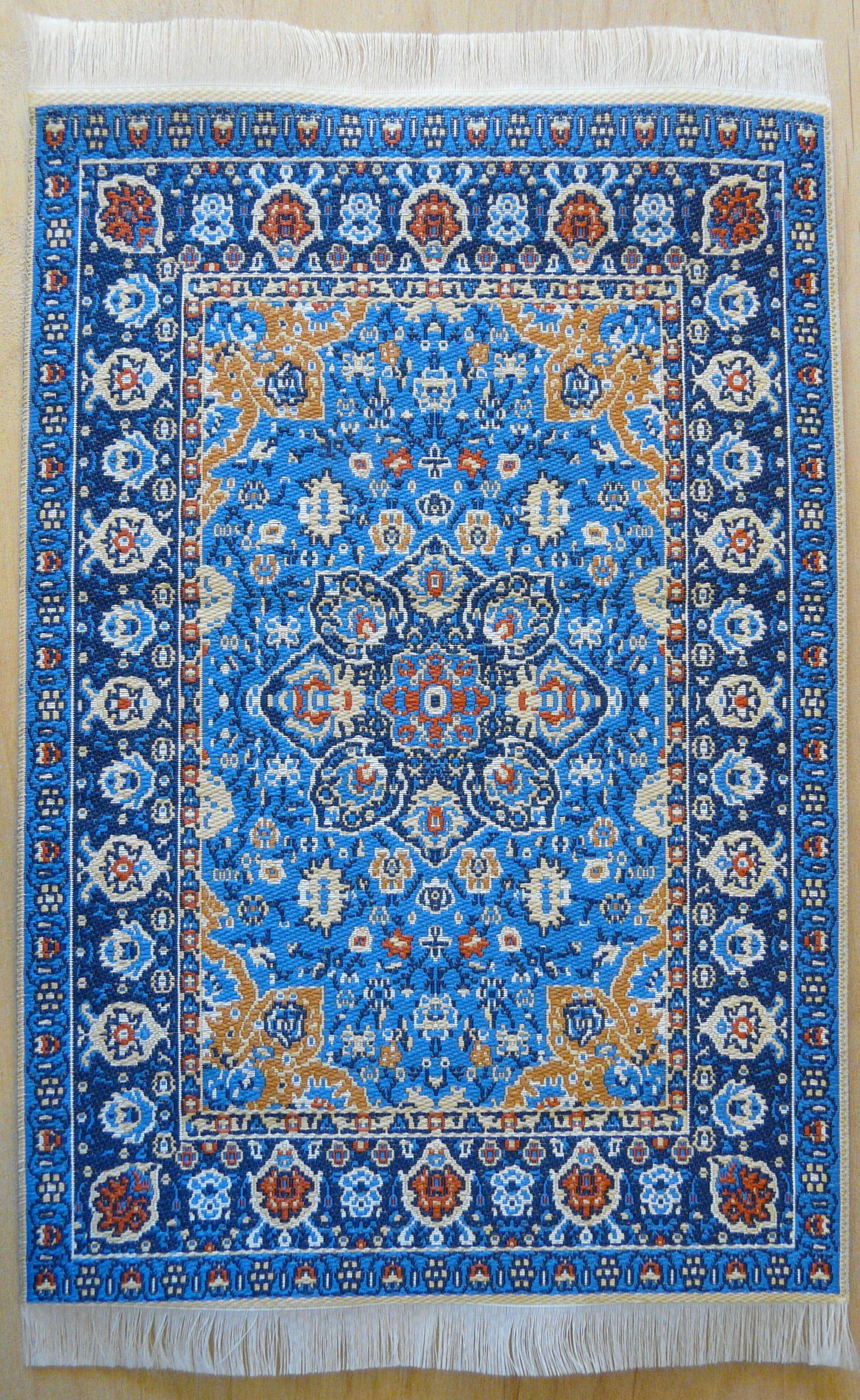 blue turkish rug w/persian influence in design UGYUJBI