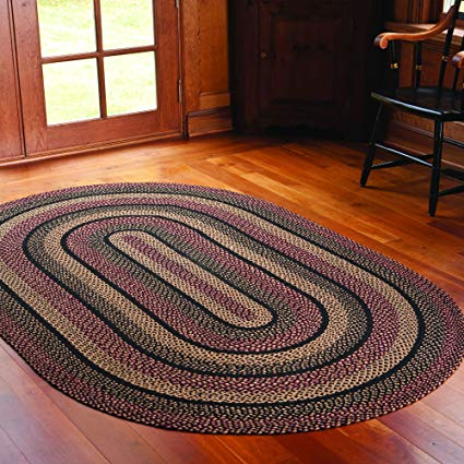 braided area rugs ihf home decor blackberry design braided area rug country style oval floor MKMUPMZ