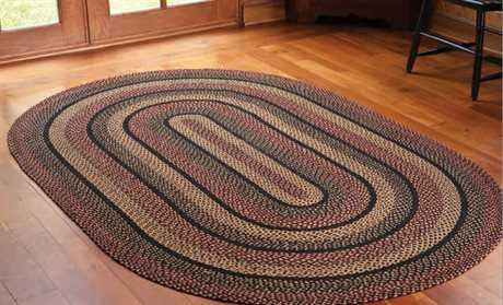 braided area rugs ihf rugs blackberry oval black area rug GYXESDE