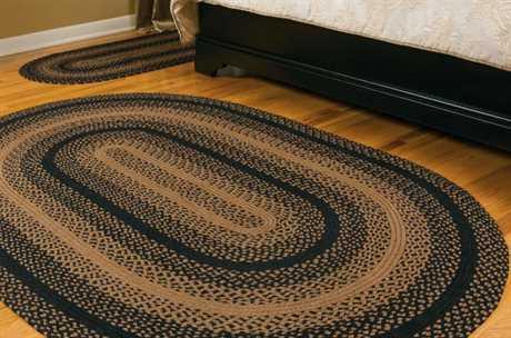 braided area rugs ihf rugs ebony oval black area rug ZYWVBQA