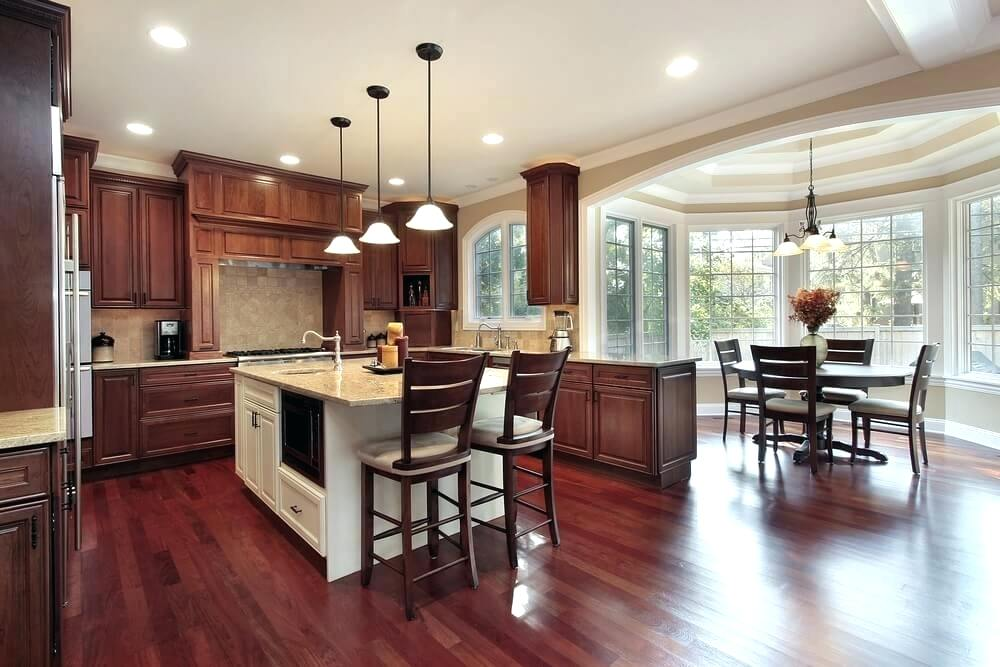brazilian cherry wood floor kitchen cherry wood flooring kitchens ... GXFUSCH