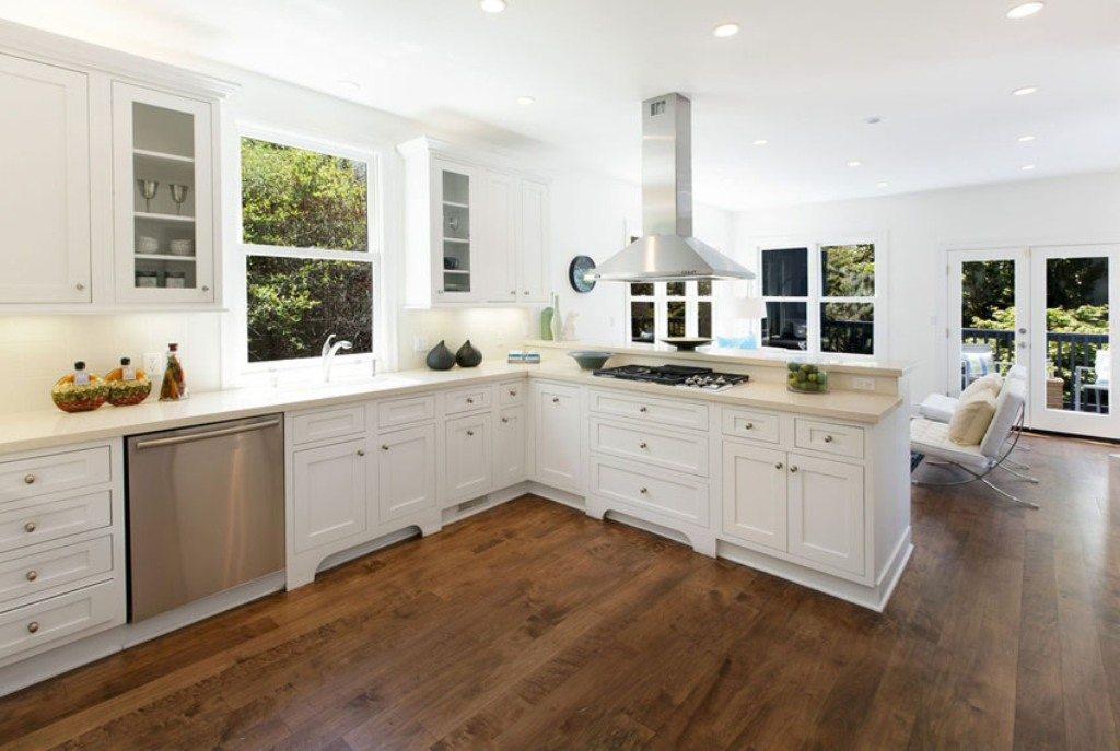 brazilian cherry wood floor kitchen white kitchen with brazilian cherry flooring NHWXSBN