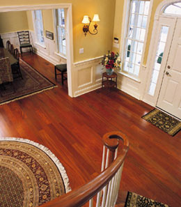 Brazilian cherry wood flooring halbert brazilian cherry floor view from staircase EYIWJOS
