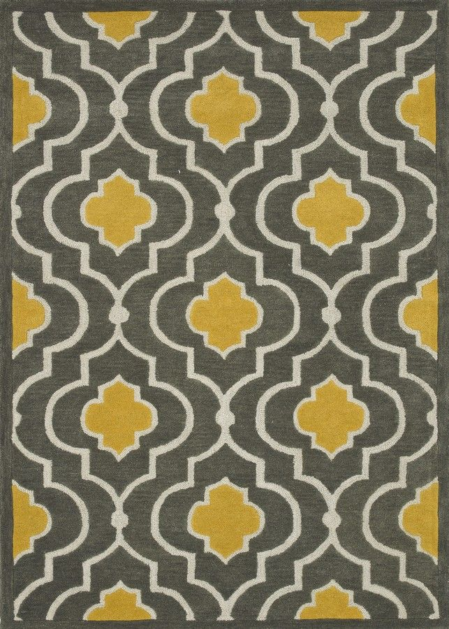 brighton grey and yellow rug UNAXFQO