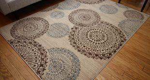 brown area rug with circles amazon.com: new city contemporary modern flowers circles wool area rug, 5u00272  x WNNRIPC