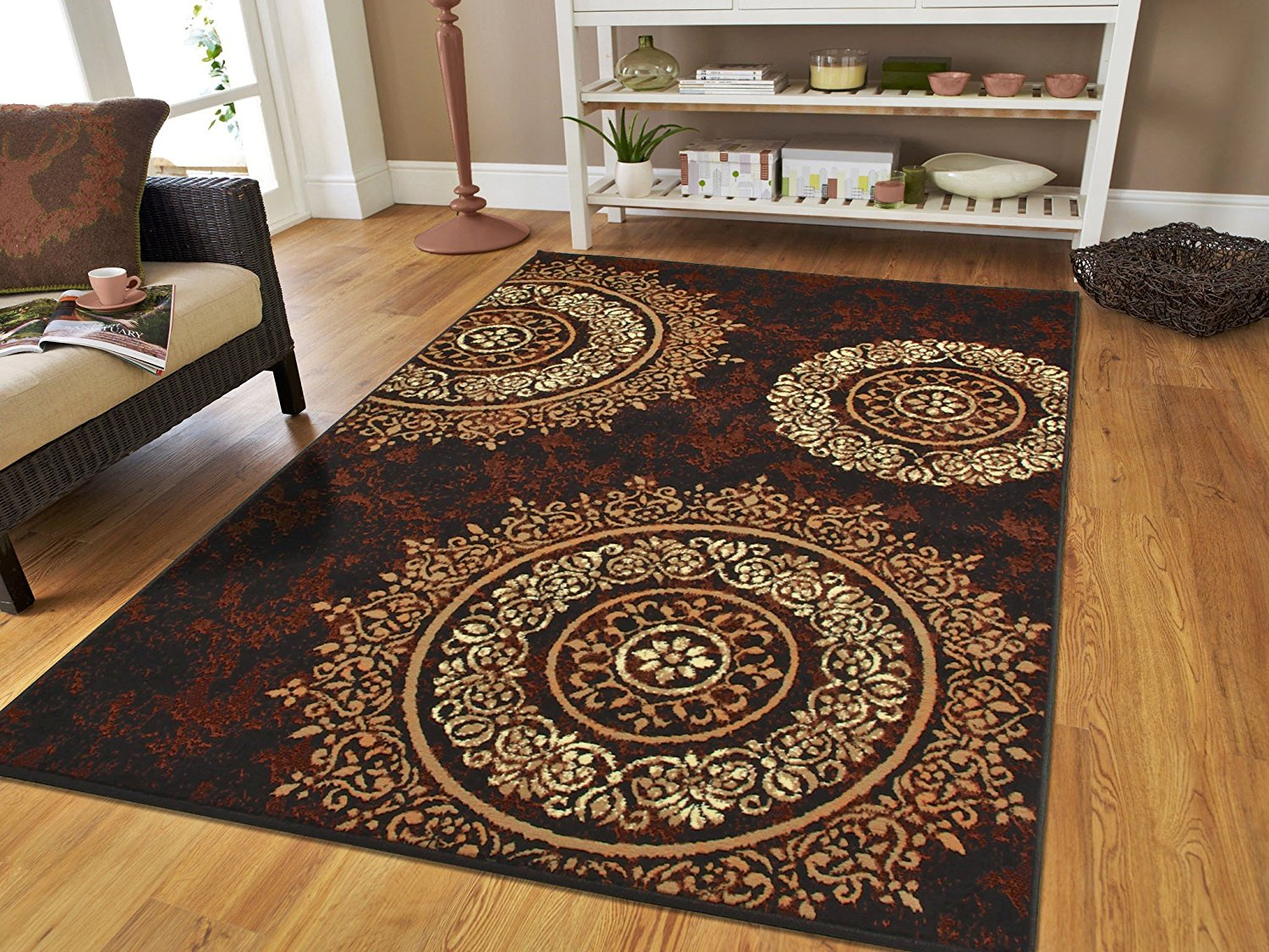 brown area rug with circles image of: brown area rugs with circles HINYUYY