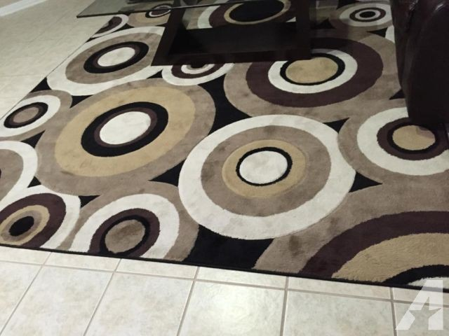 brown area rug with circles modern living dinning area rug circles brown black home DNARKAD