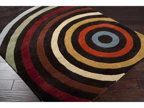 brown area rug with circles surya forum square dark brown, burnt orange u0026 tan area rug UQPRSDL
