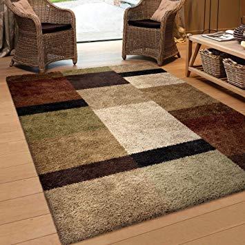 brown area rugs amazon.com: orian rugs geometric treasure box brown area rug (7u002710 YHXQUGP