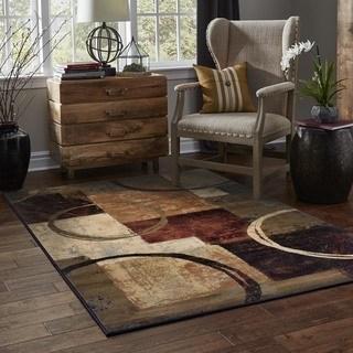 brown area rugs clay alder home percha blocks and rings brown/ black area rug - 6u00277 CIIMSSR