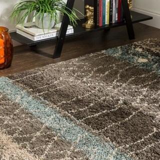 brown area rugs mohawk home huxley adobe brown/ black area rug - 8u0027 x ... GRXSTPQ
