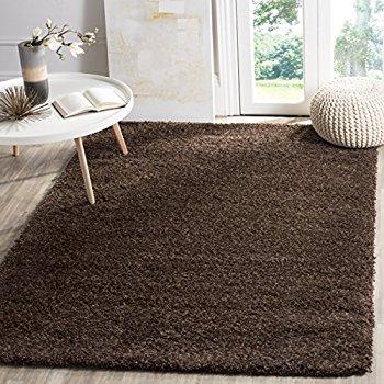 brown area rugs safavieh california premium shag collection sg151-2727 brown area rug (8u0027 x  10 TAQXZKH