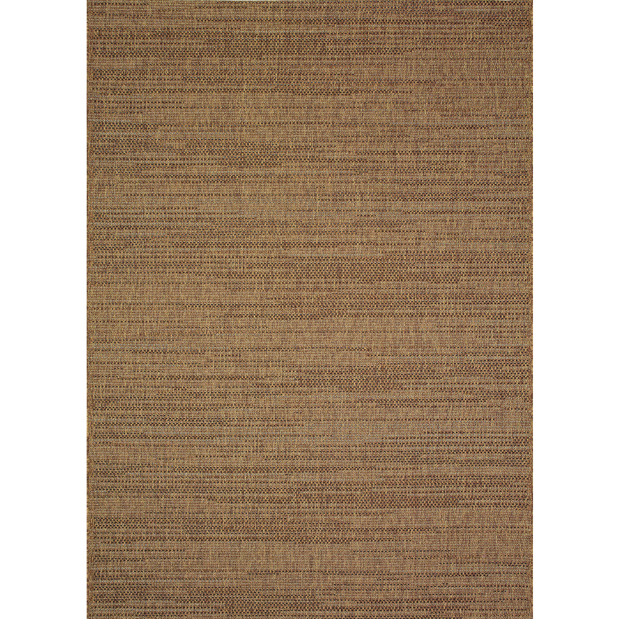brown rug allen + roth bestla brown indoor/outdoor distressed area rug (common: 8 x LQRDVSV