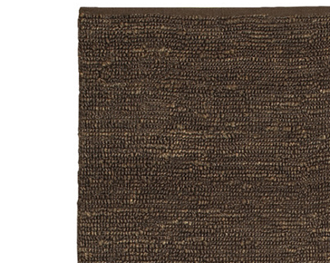 brown rug hand woven dark brown jute rug LINQGAW