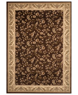 brown rug km home rugs, princeton floral brown QIWBLUT