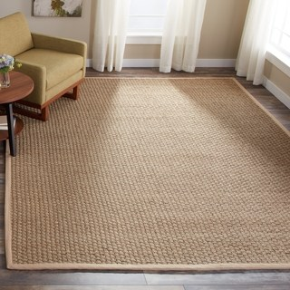 brown rug safavieh casual natural fiber natural and beige border seagrass rug - 6u0027 ... SRDNXDF