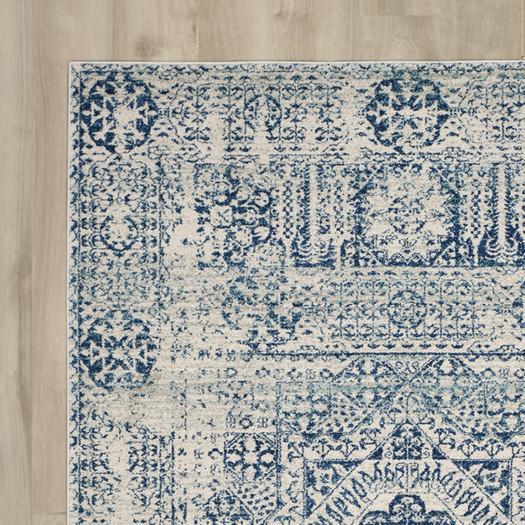 bungalow ivory blue area rug ESMAJFZ