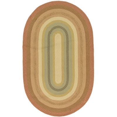 canyon reversible braided indoor/outdoor oval rug TGEKGCN