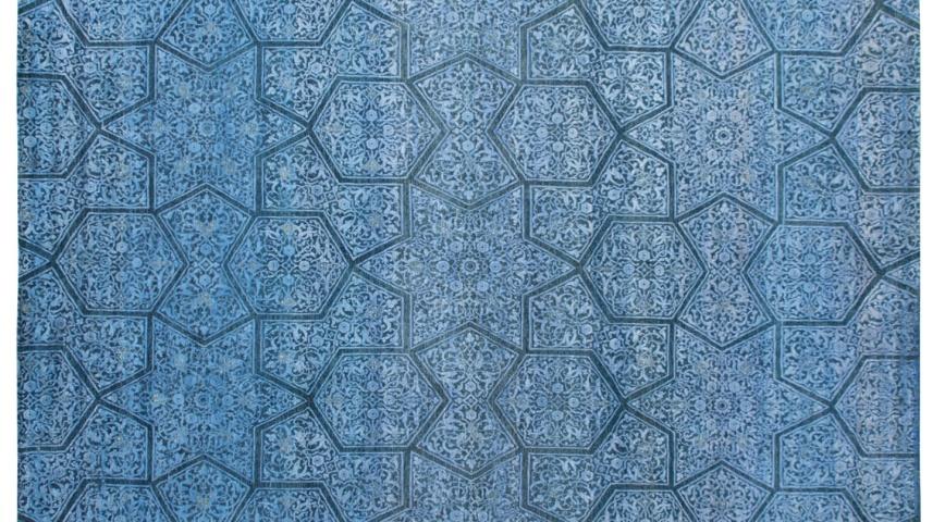 carpet design blue star, art resources SRQHDMU